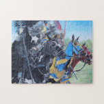 Knights on horses historic realist art puzzle