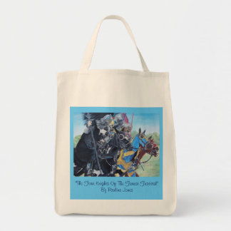 Knights on horses historic realist art tote bag