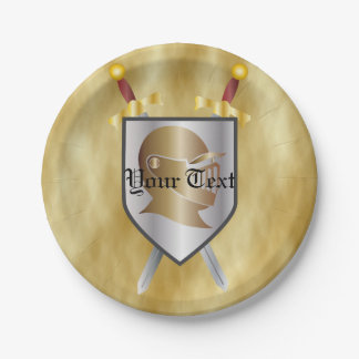 Knights Paper Plate