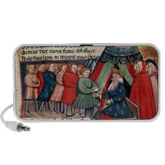 Knights pledging their allegiance travelling speakers