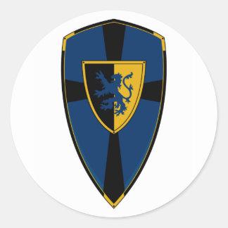 Knights Shield Sticker