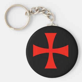 Knights Templar Basic Round Button Keychain