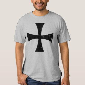 Knights Templar Black Cross T-Shirt