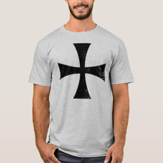 Knights Templar Black Cross T-Shirt