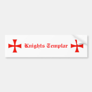 Knights Templar Bumper Sticker