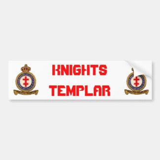 KNIGHTS TEMPLAR CAR BUMPER STICKER