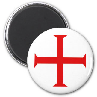Knights Templar Cross 2 Inch Round Magnet