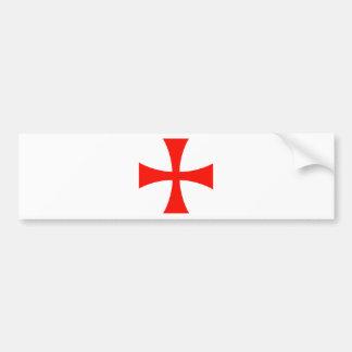 Knights_Templar_Cross Pegatina De Parachoque