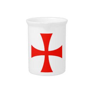 Knights Templar Cross Drink Pitchers