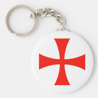 Knights_Templar_Cross Basic Round Button Keychain