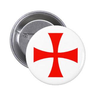 Knights_Templar_Cross Pinback Button