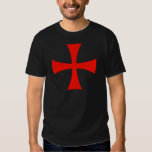 Knights Templar Cross Red Shirt