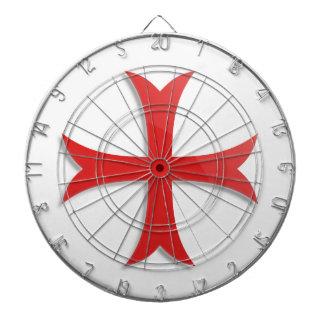 Knight's Templar Cross Symbol Dart Boards