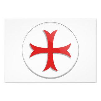 Knight's Templar Cross Symbol Invitations