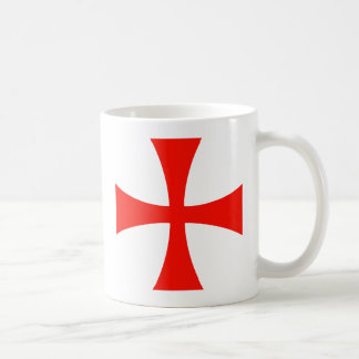 Knights_Templar_Cross Taza Básica Blanca