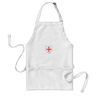 Knights Templar Crusade Shield Adult Apron