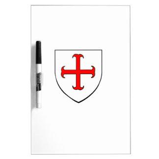 Knights Templar Crusade Shield Dry-Erase Boards
