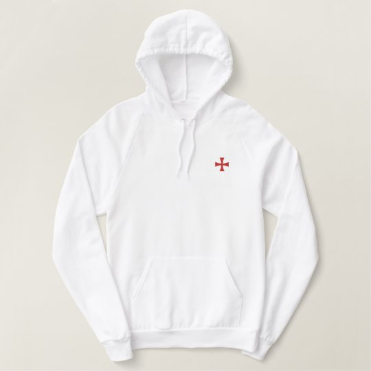 Knights Templar Embroidered Hoodie Zazzle Com