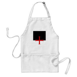 Knights Templar Flag Adult Apron