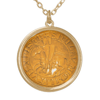 Knights Templar Gold Plated Necklace