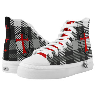 KNIGHTS TEMPLAR :: LIMITED EDITION TARTAN SNEAKERS PRINTED SHOES