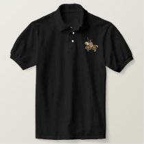 Knights Templar Medieval Crusader Embroidered Polo Shirt