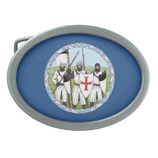 Knights Templar Oval Belt Buckle