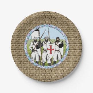 Knights Templar Paper Plate