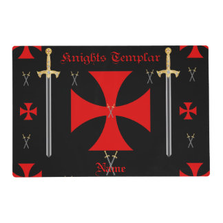 Knights Templar Placemat Laminated Placemat