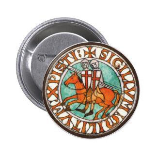 Knights Templar Seal Pinback Button