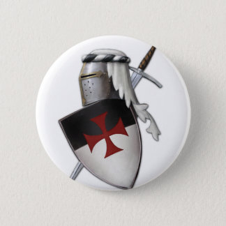 Knights Templar shield Button