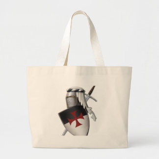 Knights Templar shield Jumbo Tote Bag