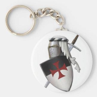 Knights Templar shield Basic Round Button Keychain