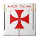 Knights Templar Small Square Tile