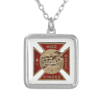 KNIGHTS TEMPLAR SQUARE PENDANT NECKLACE