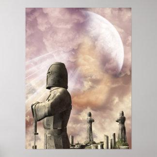Knights Templar Statues Poster