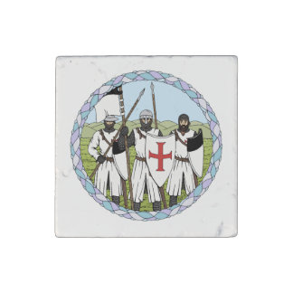 Knights Templar Stone Magnet