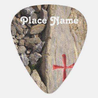 Knights Templar Switzerland Guitar Pick