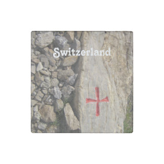 Knights Templar Switzerland Stone Magnet