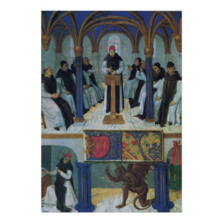 Knights Templars and Baphomet 15th century Poster