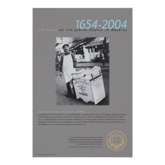 Knish Man Lower East Side New York 1925-1950 Poster
