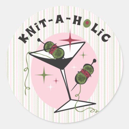 Knit-A-Holic Classic Round Sticker