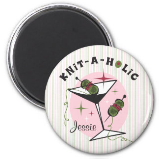 Knit-A-Holic 2 Inch Round Magnet
