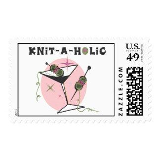 Knit-A-Holic Postage Stamp