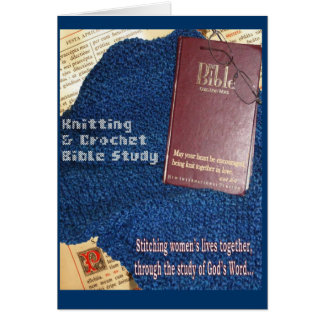 Knit and Crochet Bible Study notecard Cards