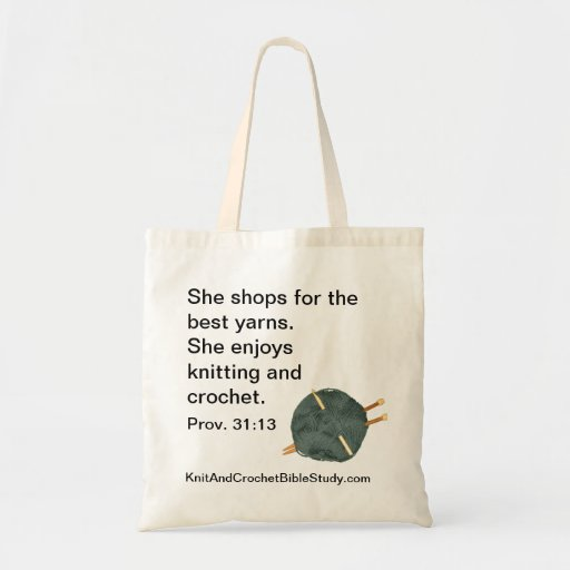 Knit and Crochet Tote Bag Zazzle