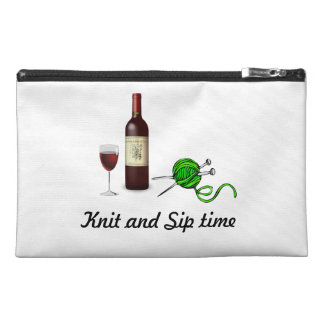 """Knit and Sip"" knitting accessory bag"