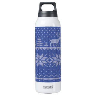 knit blue SIGG thermo 0.5L insulated bottle
