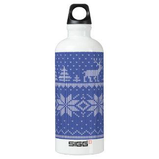 knit blue SIGG traveler 0.6L water bottle