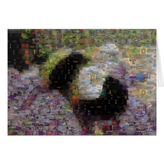 Knit Bumble Bee Mosaic Card